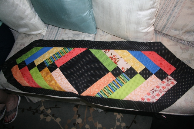 this is the table runner that Sandy made.  it would look good in just about anything