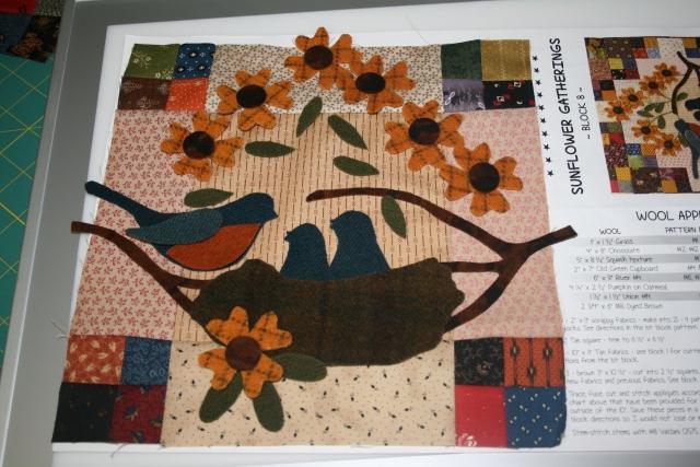 my next Sunflower Gathering block