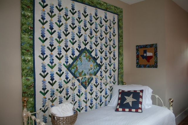 back porch quilt up