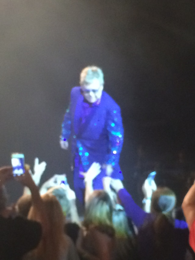 Sir Elton John, not the best picture but i got one!