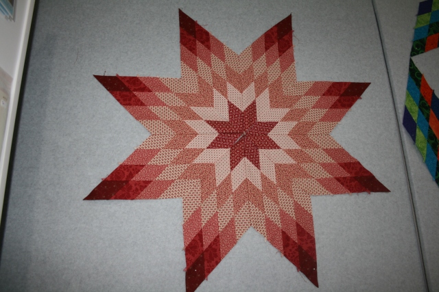 I got a little anxious and decided to sew my star points together