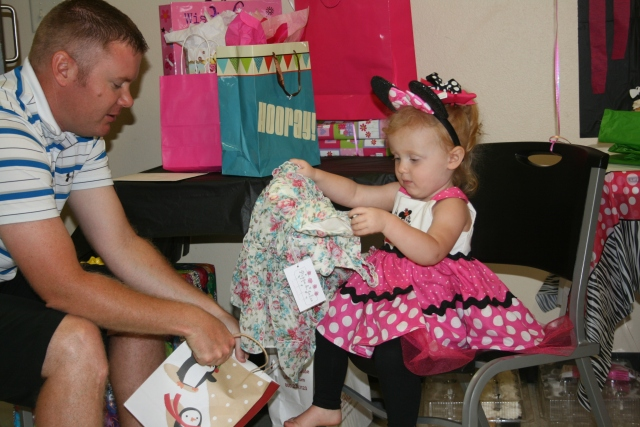 Adley opening her gifts