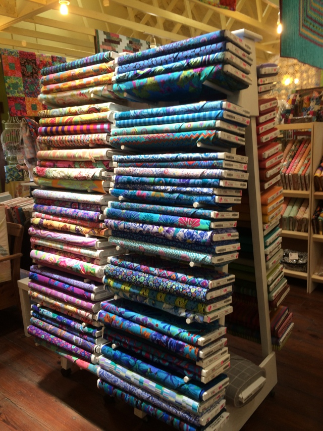 love the stacks of fabric