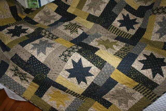 this is the quilt that Donna made, I forgot the name