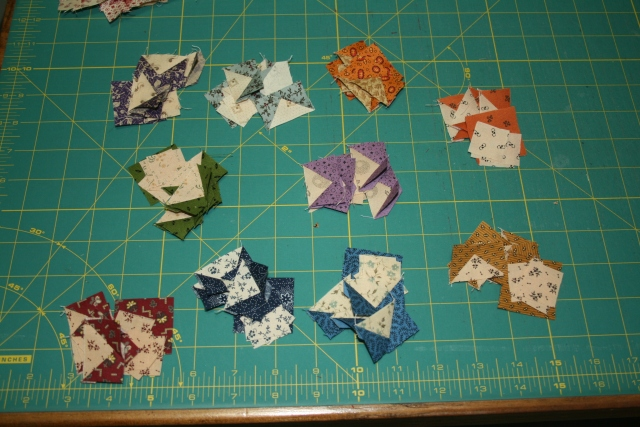 my sections for my mini sawtooth stars
