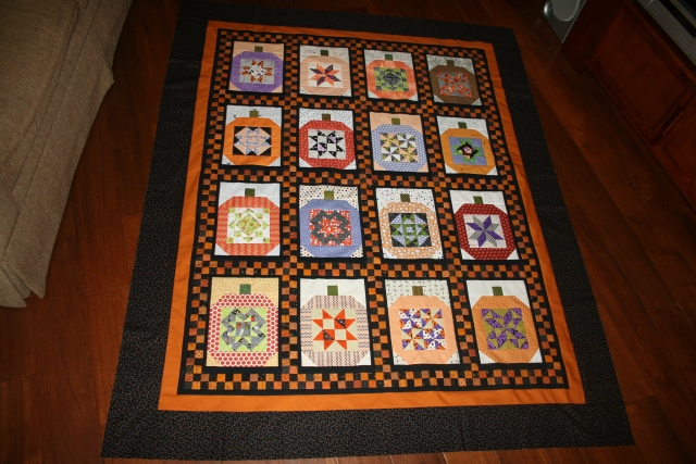 all done, now it is ready to be quilted! yeah!