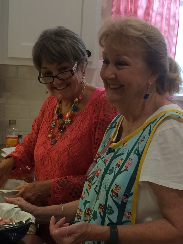 Margie and Suzanne cooking it up