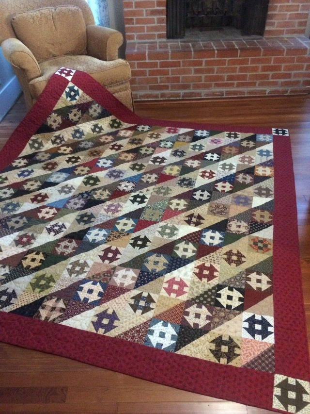 my churn dash quilt
