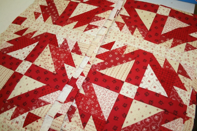 a teaser from Red Crinoline Quilts - a must get at festival