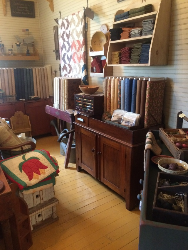 fabric and antiques, what a way to go