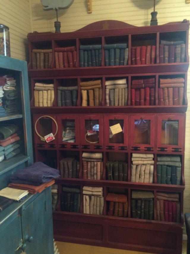 love this cabinet stuffed with wool