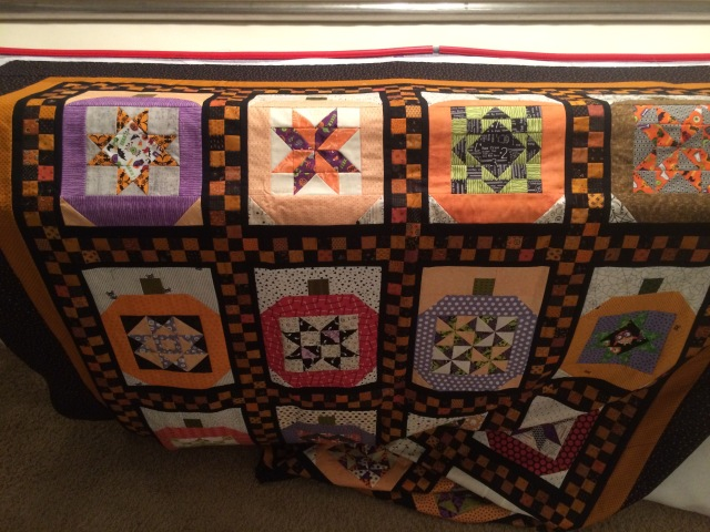 Cathy is loading my pumpkin quilt