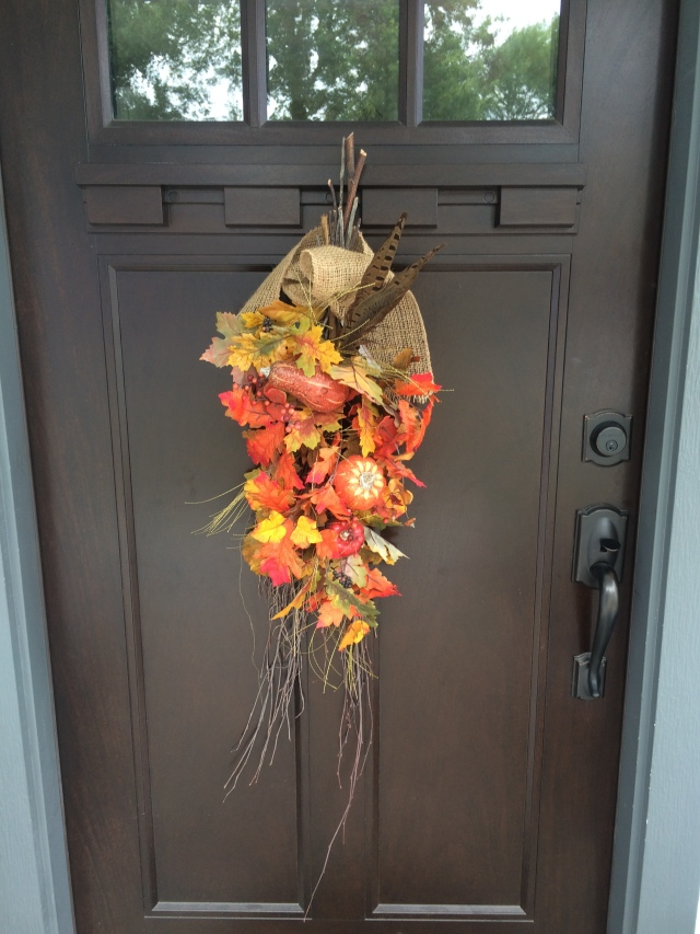 my wreath for the craft room