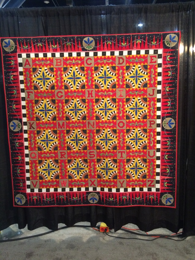 I'm going to make an ABC quilt one day.  Loved this from Karen Stone