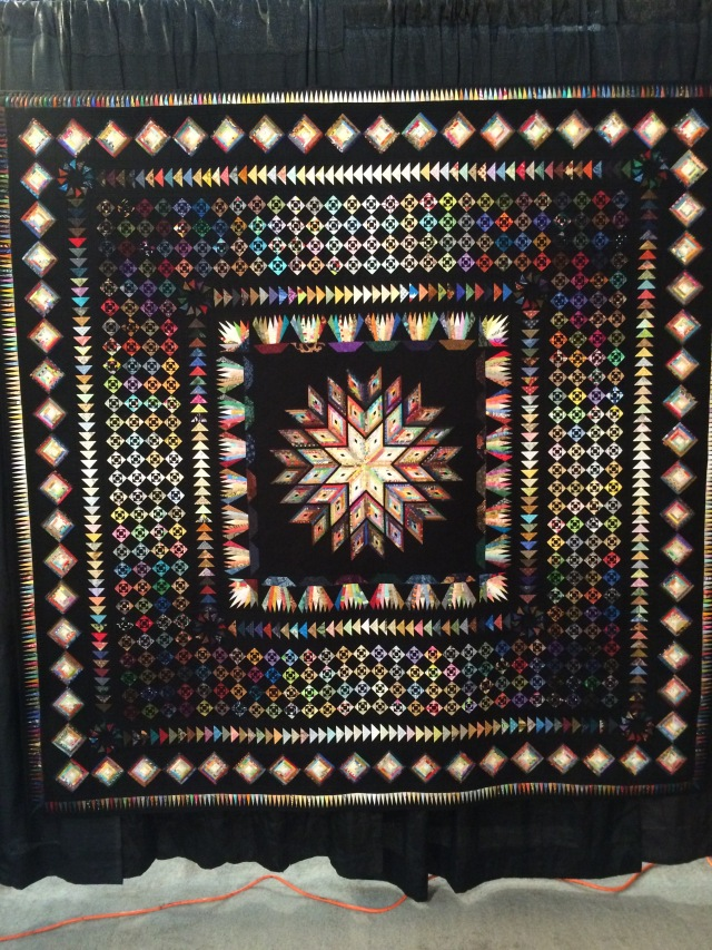 this was this ladies first quilt.  it was beautiful and all the pieces are tiny