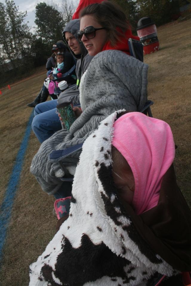 we were all bundled up!