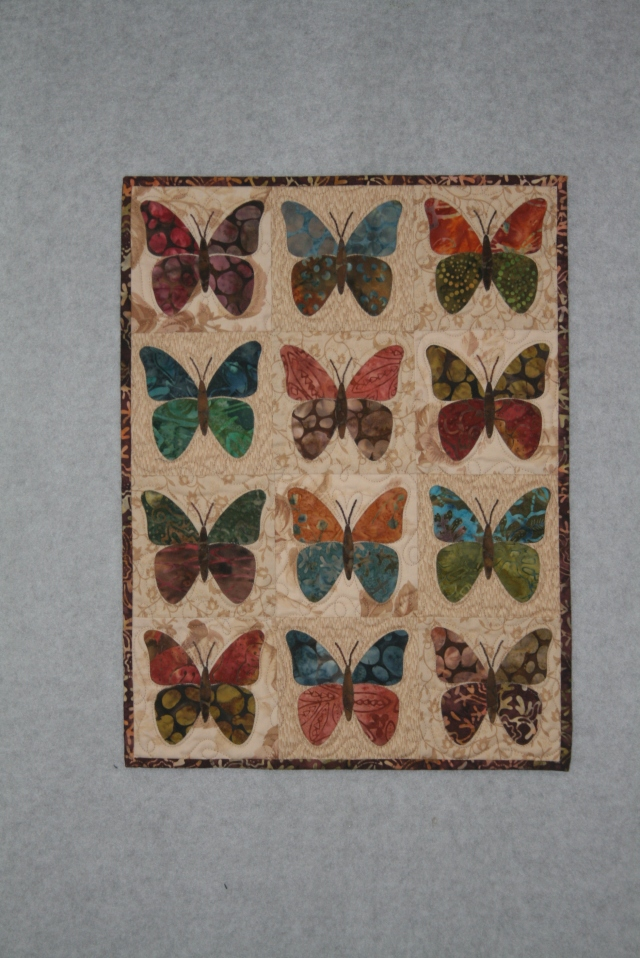 Laundry Basket Quilts little butterflies done May 2015