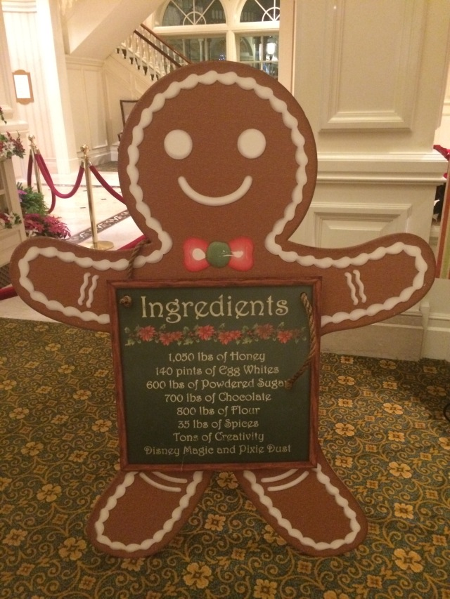 what makes up the gingerbread house