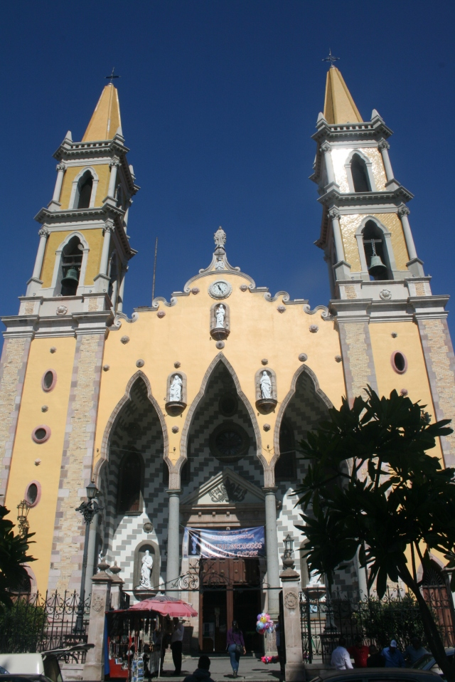 the front of their cathedral