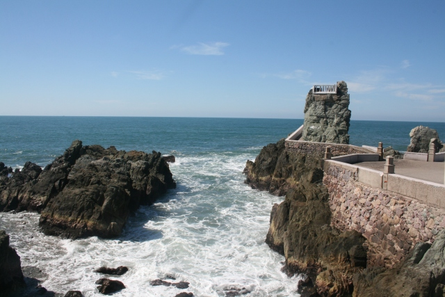 where the cliff diver is going to go
