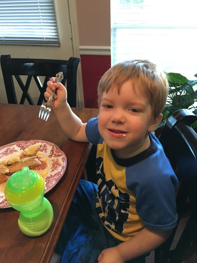 Wyatt finally decided on pancakes