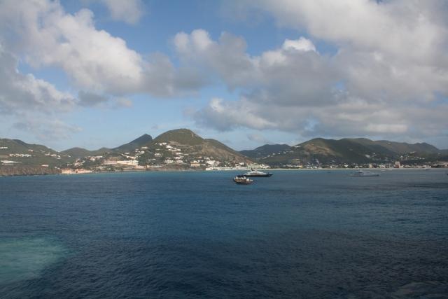 pulling into St Maarten