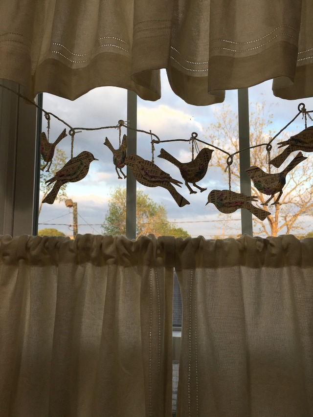 I loved these little birds now hanging in the reproduction bathroom