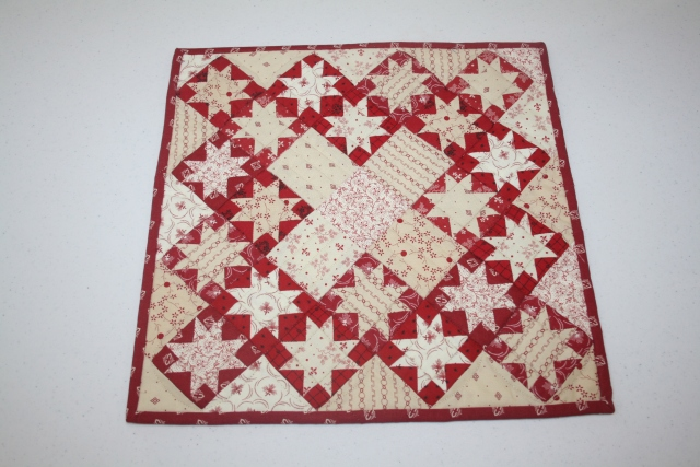 a mini quilt, one of Primitive Gatherings patterns