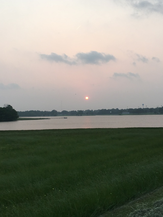 one of the sunrises we got to see on Lake Madisonville