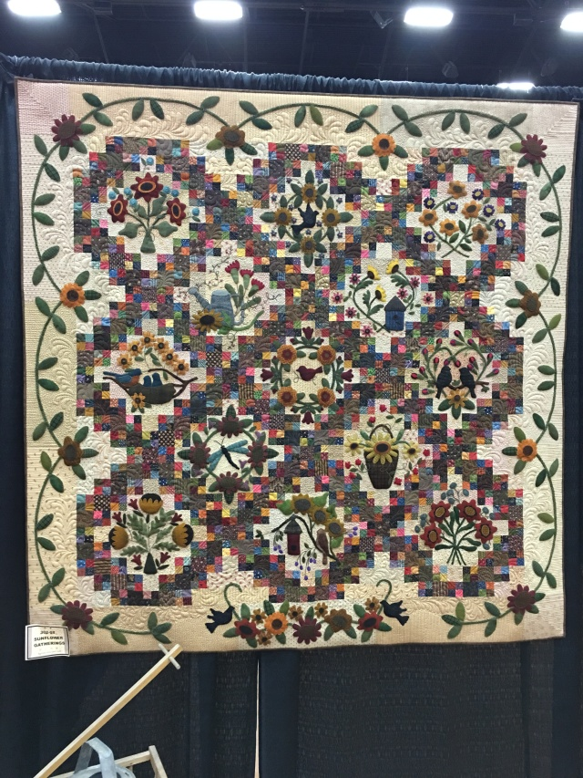 my sunflower gathering quilt