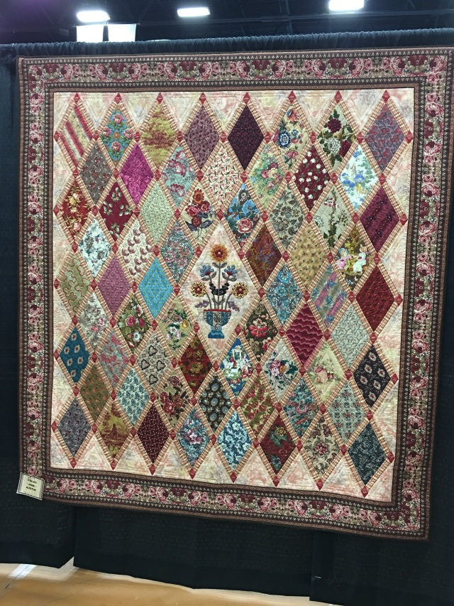 Ms Marion's quilt, love the diamonds