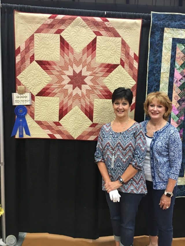 Cathy and I, we won a blue ribbon
