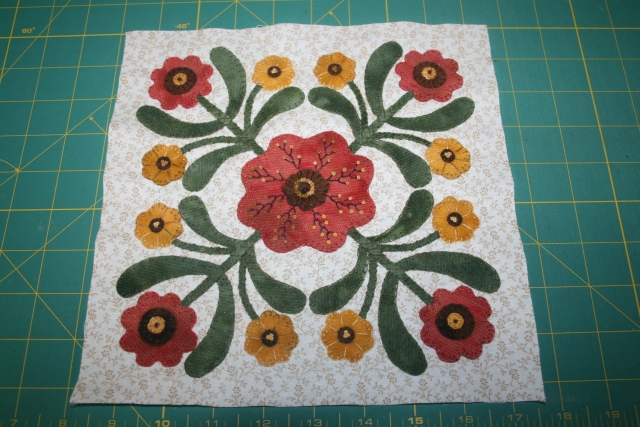 block #11, I needed to add the center french knots