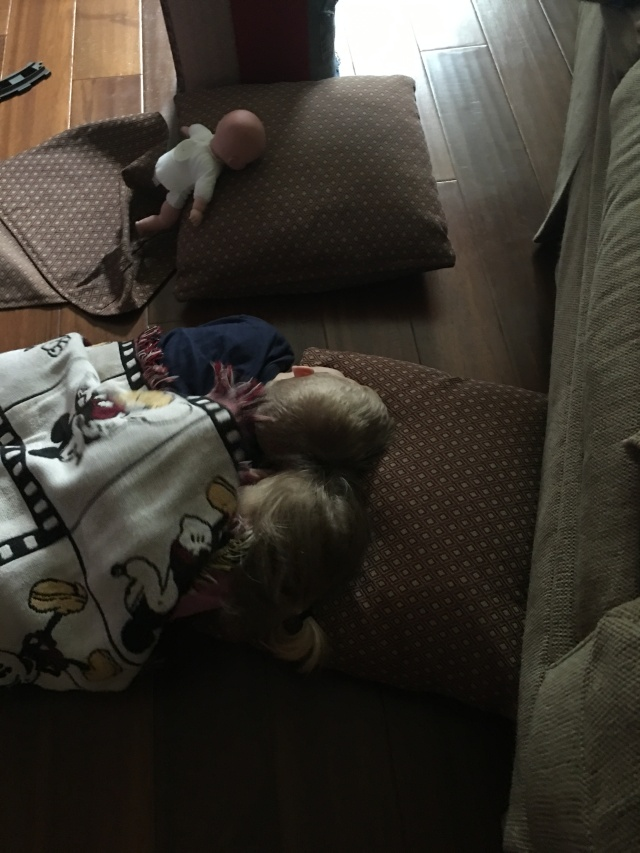 Wyatt and Kynlee playing