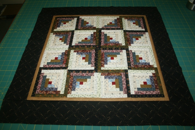 my log cabin quilt done