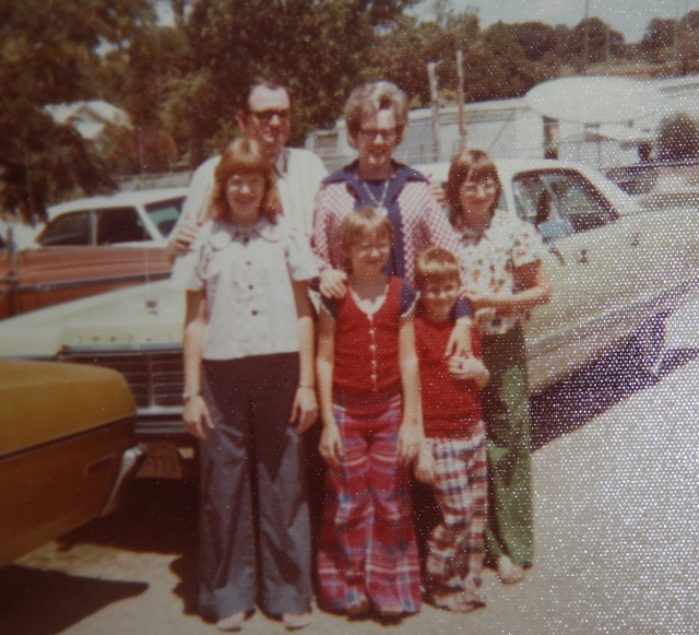 "back in 1973, this was our family.  yes, I have on ""bell bottoms""."