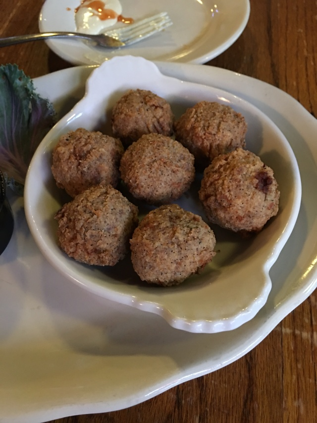 boudin balls from The Chimes - they know how to make them! a must stop on the way to Florida