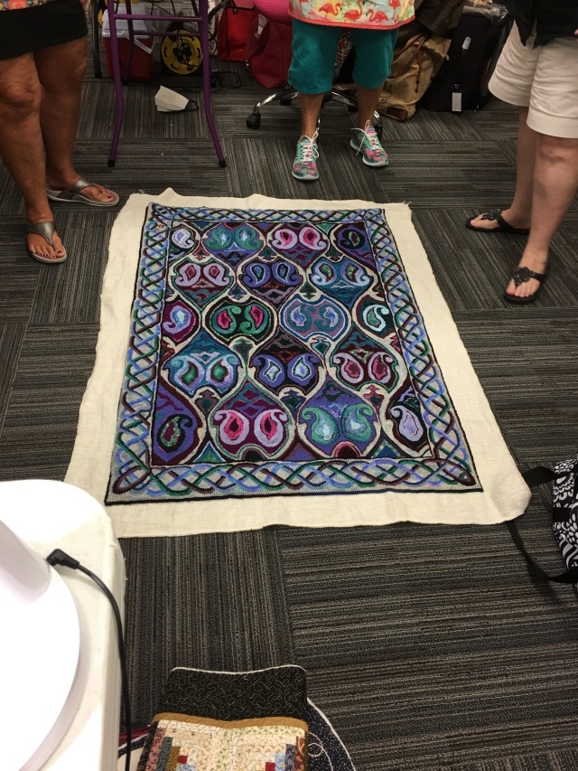 one of the girls in FL hooked this rug, it took her a while but it sure looks nice!