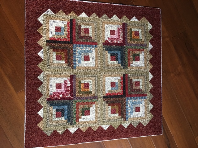 this is another log cabin I did from Pam Buda's pattern in 2010