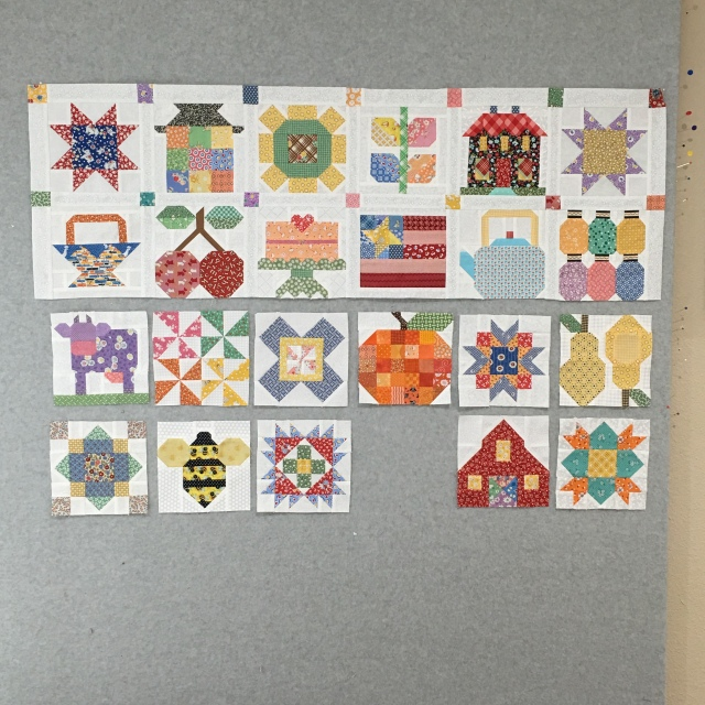 my progress on my Farm Girl blocks
