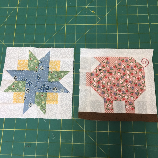 two more blocks for Farm Girl.