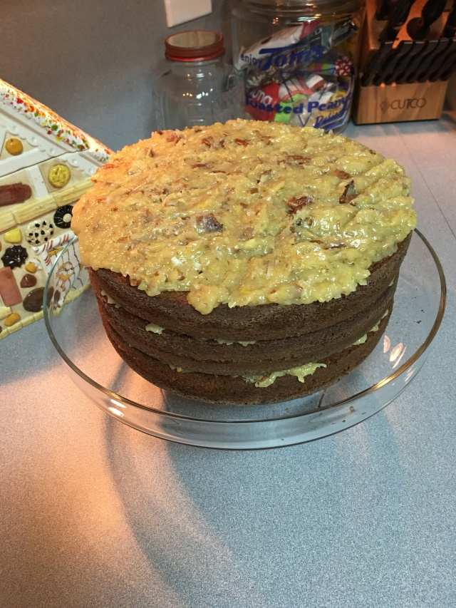 German Chocolate Cake, all from scratch