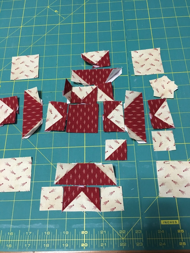 block #4, I had to make sure they were all going in the right direction