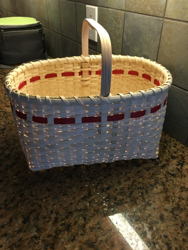 my basket before it was finished.  it needs staining and the trim work