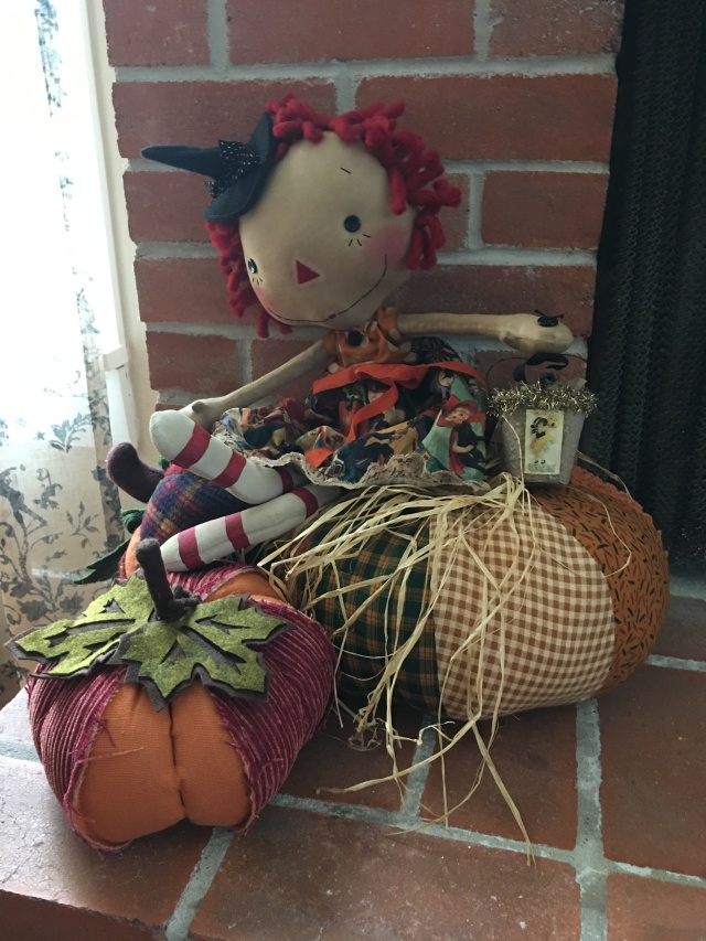 and my little Annie doll ready for Halloween