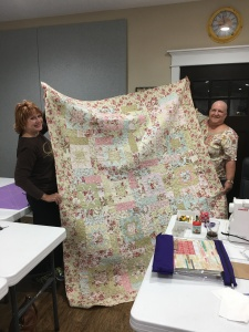 myself and Peggy with her new quilt