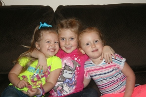 my 3 granddaughters - Kynlee, Hailey and Adley