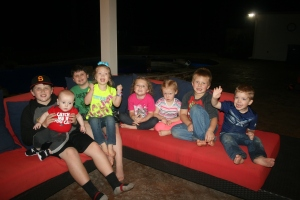 my grandchildren, it was tough getting them all to cooperate!
