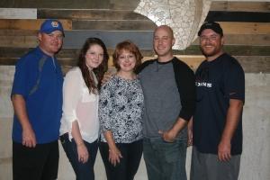 Kyle, Katie, me, Brok and Josh