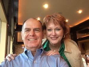 David and I at dinner